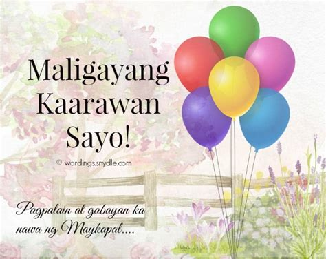 Wedding Congratulations In Tagalog by Birthday Messages In Tagalog Wordings And Messages