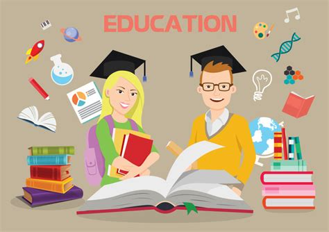 Free Education Background Check Education Background Illustration With Bachelors And