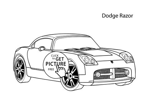 coloring pages of awesome cars super car dodge eazor coloring page cool car printable