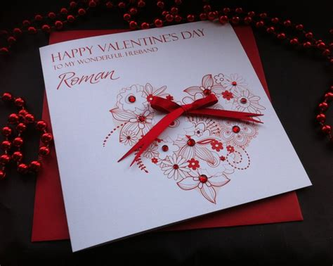 Handmade Valentines Cards - valentines cards personalised valentines day cardspink