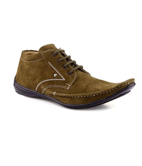 v 5 khaki nubuck leather casual shoes for price in