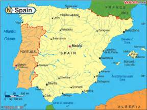 Google Map Spain by Spain Map Google Images