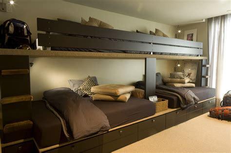 bunk room contemporary bedroom kansas city