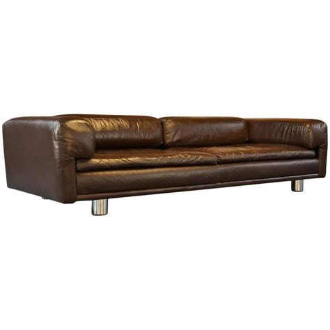 Vintage Brown Leather Sofa Vintage 1970s Hk Diplomat Sofa Or Settee Or By Howard Keith Brown Leather At 1stdibs