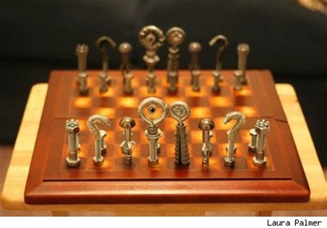 futuristic chess set decorate like a steunk mix history and futuristic