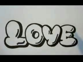 graffiti letters of the word love youtube