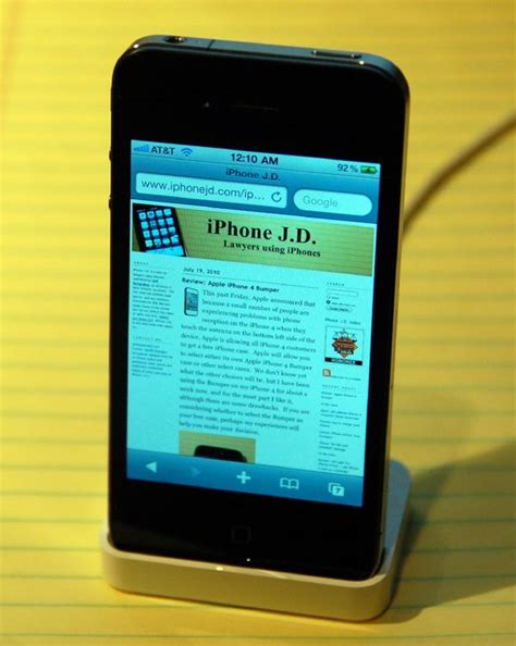 review apple iphone 4 dock iphone j d