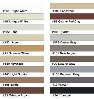 Galerry polyblend grout color chart