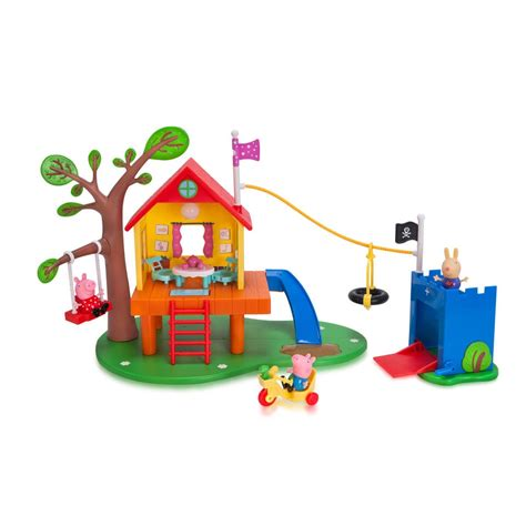 peppa pig swing peppa pig s treehouse and george s fort playset gifts