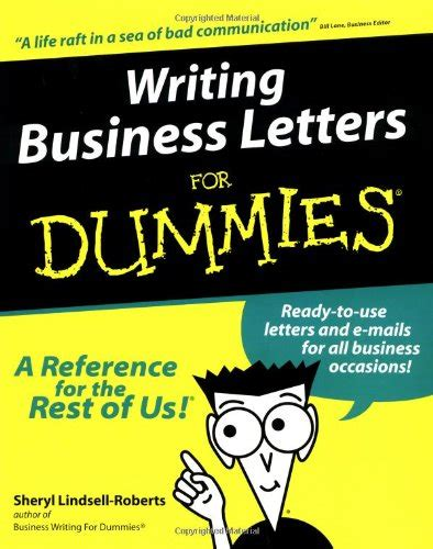 business letters dummies formal application letter