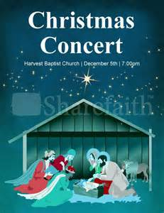 christmas concert flyer template template flyer templates