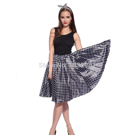 rock and roll polka dot skirt 1950s grease jive fancy skirt costume in skirts from