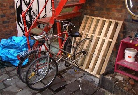 How Much Is A Bike Rack For A Car by 5 Simple Diy Pallet Bicycle Rack Pallets Designs