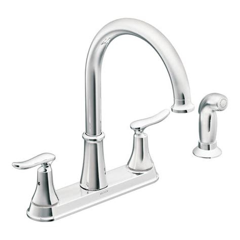 moen 2 handle kitchen faucet moen solidad 2 handle high arc kitchen faucet at menards 174