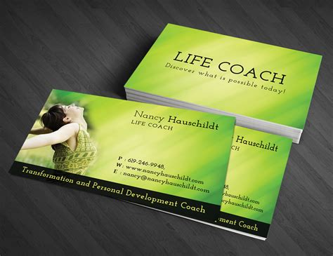 Business Cards Templates Coaching by Business Card Design For Nancy Hauschildt Coaching By