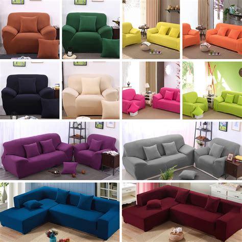 1 2 3 4 Sofa Slipcover Stretch Covers Elastic Fabric