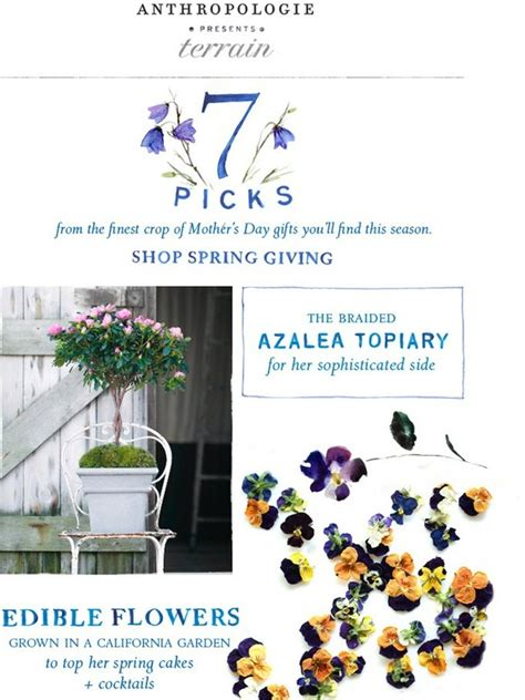 Can You Use Anthropologie Gift Cards At Terrain - anthropologie terrain s gift guide for mother s day milled