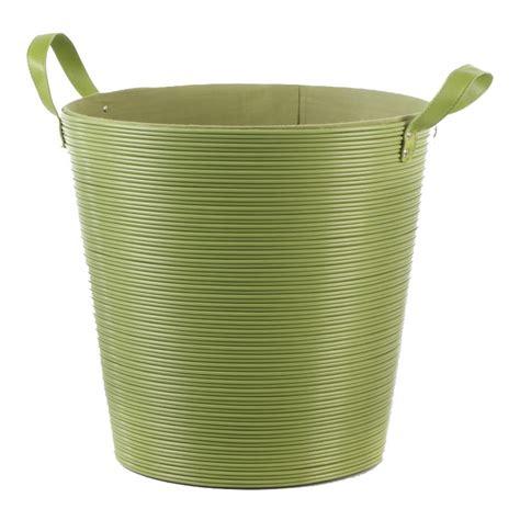 panier 224 linge plastique vert 40cm