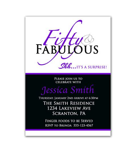 template for 50th birthday invitations free printable 8 best images of 50th birthday invitations