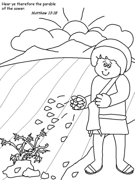 free parable of the hidden treasure coloring pages