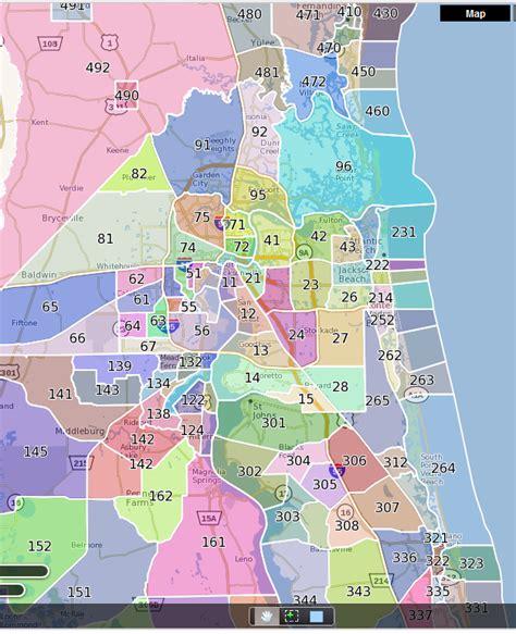 printable zip code map jacksonville fl jacksonville mls map