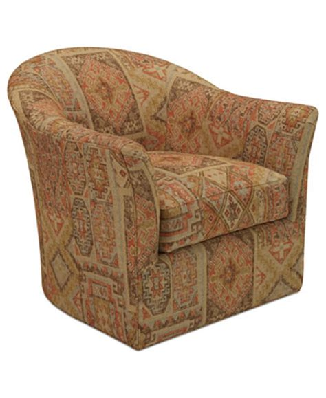 Fabric Swivel Chairs For Living Room Fabric Living Room Swivel Chair Furniture Macy S