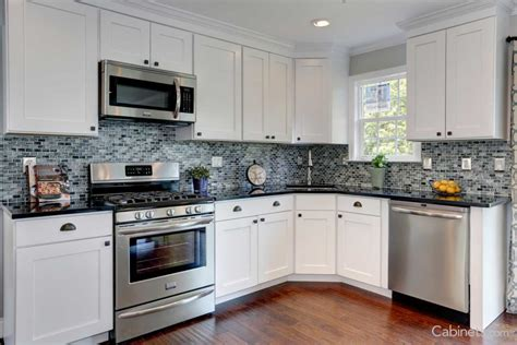 Types Of Cabinets For Kitchen Kitchen For White Kitchen Cabinets L Shaped Used Backsplash Ceramic Types Of Cabinet Styles