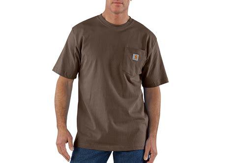 t shirt carhartt logo mens carhartt k87 pocket t shirt brown
