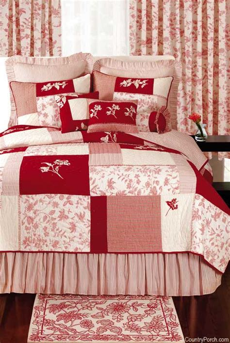 red quilt bedding brighton red toile blocks quilt bedding by c f enterprises