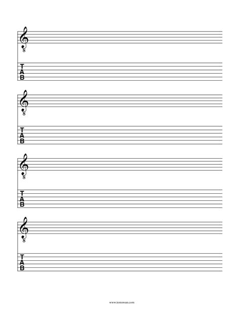 printable staff chord and tab paper blank sheet music tab pdf blank music paper free sheet