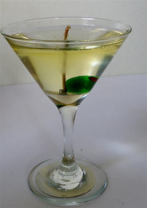 Items similar to Martini w/ Glass Olive candle   Wedding