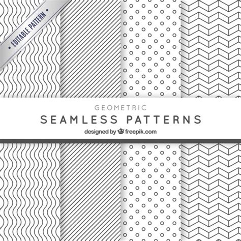 photoshop pattern freepik geometric seamless patterns pack vector premium download
