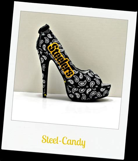 steelers high heels quot steel quot pittsburgh steelers peep toe stiletto