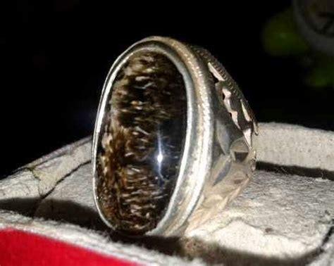 Bulu Macan Lumajang Gondrong cincin akik batu bulu macan gondrong big size asli