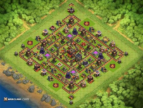 coc village layout th10 th10 defense base coc yqn3xjvq9 jpg 1024 215 776 clash of