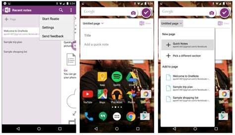 onenote app for android onenote for android gets updated with floatie mspoweruser