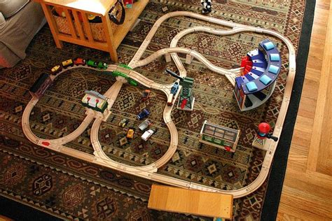 train layout blog thomas track layout 6 cranky the crane and the