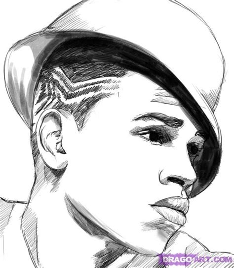 How To Draw Chris Brown Step By Step Music Pop Culture Chris Brown Coloring Pages