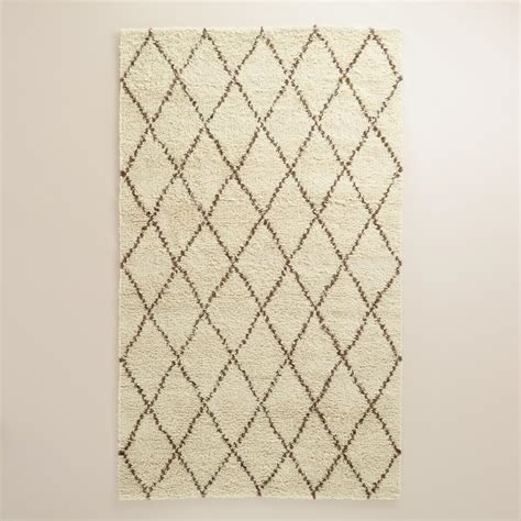 Ivory Rug 8x10 by Ivory Moroccan Style Shag Rug World Market