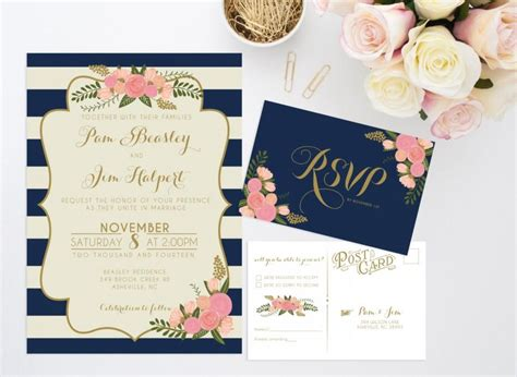 printable wedding invitation bundles printable wedding invitation bundle stripe floral inv and