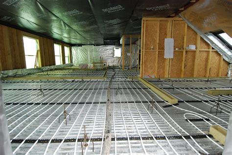 underfloor heating on joisted floors