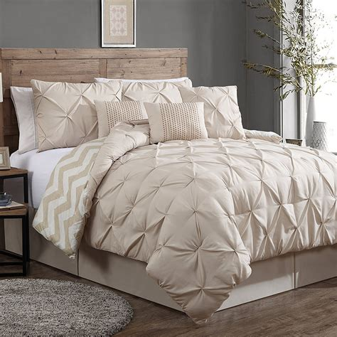 taupe bedding sets luxurious reversible 7 piece comforter set king size