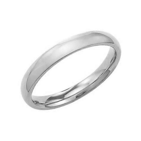 solid plain wedding band ring 925 sterling silver 3mm ebay
