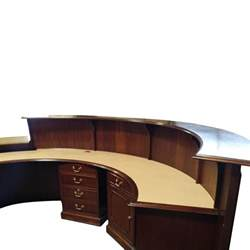 Custom Reception Desk Traditional Custom 11 Foot Reception Desk Walnut National Office Interiors And Liquidators
