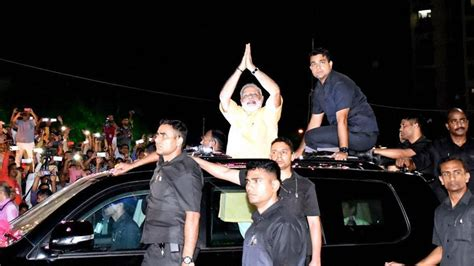 show in surat in patidar bastion surat pm modi sets tone for bjp with