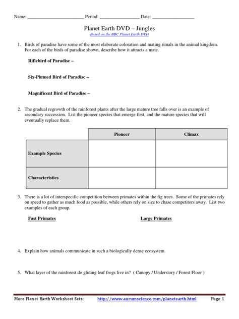 Planet Earth Shallow Seas Worksheet by Planet Earth Shallow Seas Worksheet Worksheets