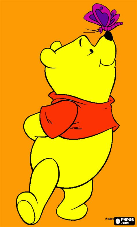 pooh bear butte coloring page, printable pooh bear butte