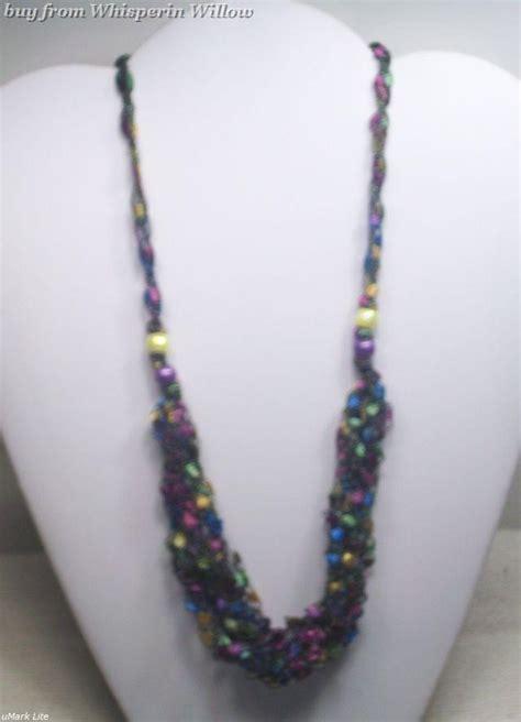 pattern for trellis yarn necklaces crochet pattern necklace trellis yarn crochet club