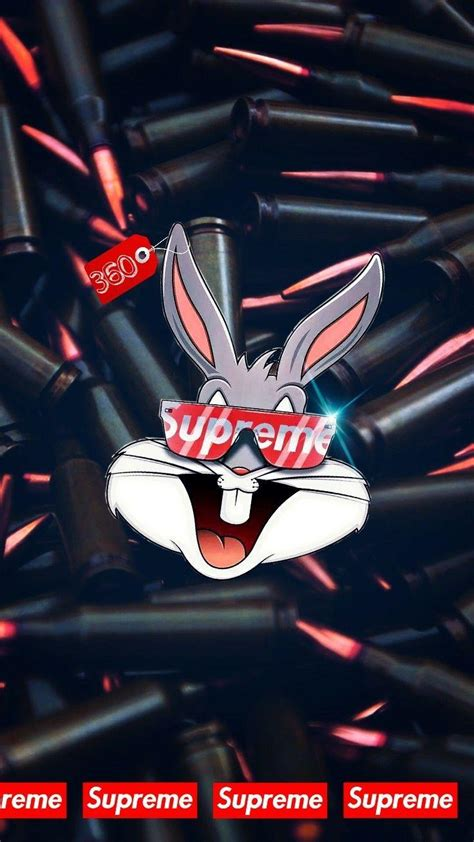 supreme bugs bunny wallpapers wallpaper cave
