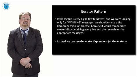 iterator pattern youtube python iterator pattern generators youtube